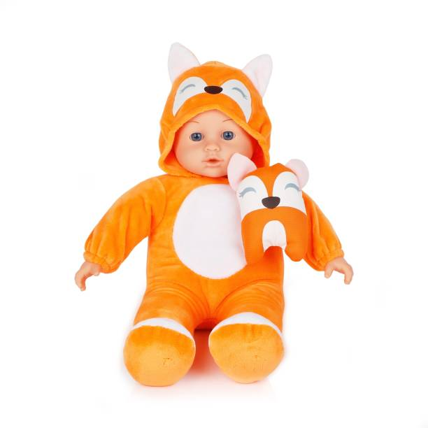 Miss & Chief 14 Inch Premium Quality Baby Doll with Animal Costume and Baby Sound, Extreme fun to play with Kids
