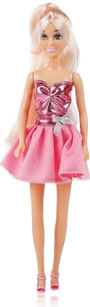 Miss & Chief Hannah Fashion Doll - Pink Shimmery Dress