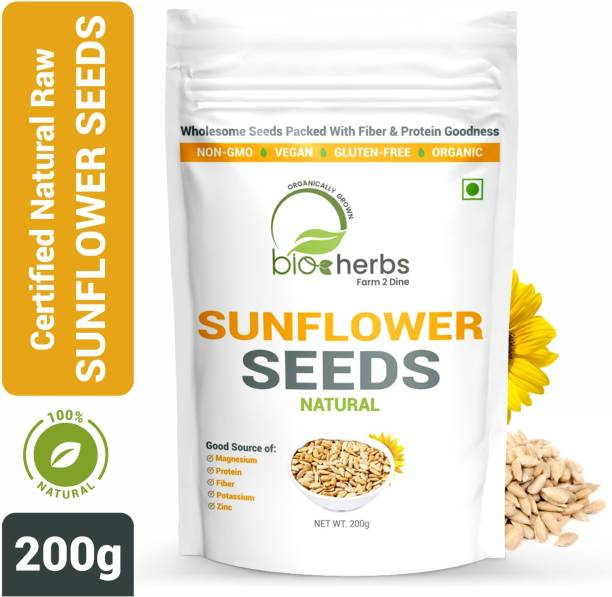 Bioherbs Certified Raw Sunflower Seeds, Rich in Magnesium, Healthy Seeds