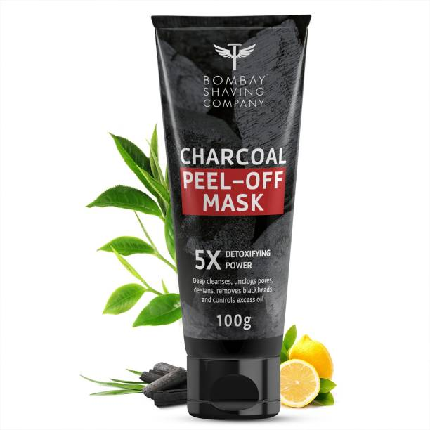 BOMBAY SHAVING COMPANY Activated Charcoal Peel Off Mask | Cleans Pores, Removes Blackheads & De-Tans (100g) | Made in India