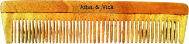 John & Vick 2 in 1 Regular Neem Comb