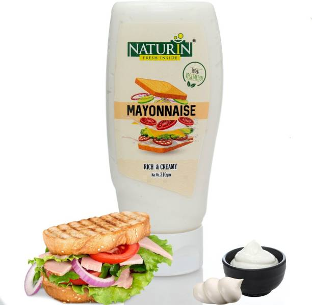 Naturin Mayonnaise I Smooth & Creamy Mayo for Sandwiches, Burgers and Meals, 310 gm 310 g