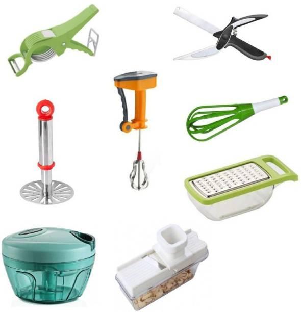 """JASHU N RINKU"" COMBO-8001 Helpful 8 pcs Kitchen Tools Set Combo-8001 (Best Quality) (Multicolor) Multicolor Kitchen Tool Set"