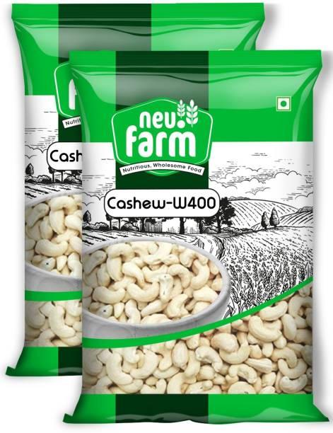 Neu.Farm Value - Cashew/Kaju - Whole W400 - Cashew Nuts - Pack of 2 x 250g - (500g) Cashews