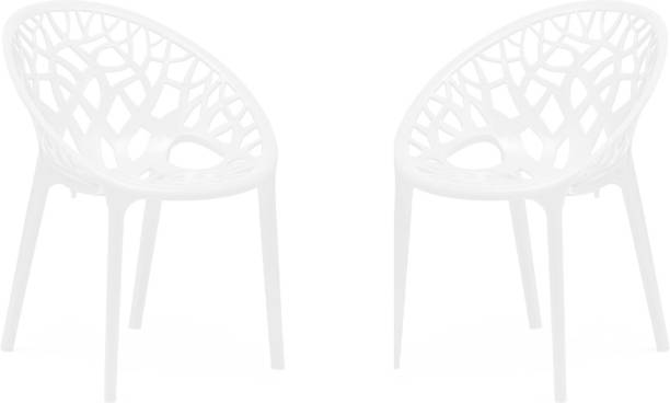 Oaknest Unboxing Furniture Crystal Plastic Outdoor Chair