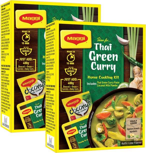 Maggi THAI GREEN CURRY | HOME KIT | AUTHENTIC THAI CURRY | READY IN 3 step-(110G X 2)