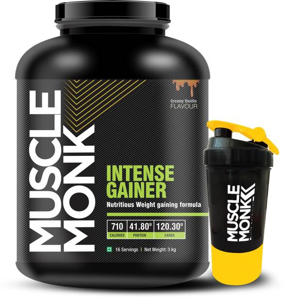 MuscleMonk Mass Gainer with 120.3 G Carbs 710 kcal 41.8 G protein Chocolate Flavor - 3 Kg Weight Gainers/Mass Gainers