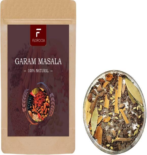 Florocia Organic Whole Garam Masala Spice – Garam Masala & Biryani Masala Flavorful & Aromatic Spices Combo Pack for Veg & Non-Veg Recipes 200 gm | Indian Spices & Masala