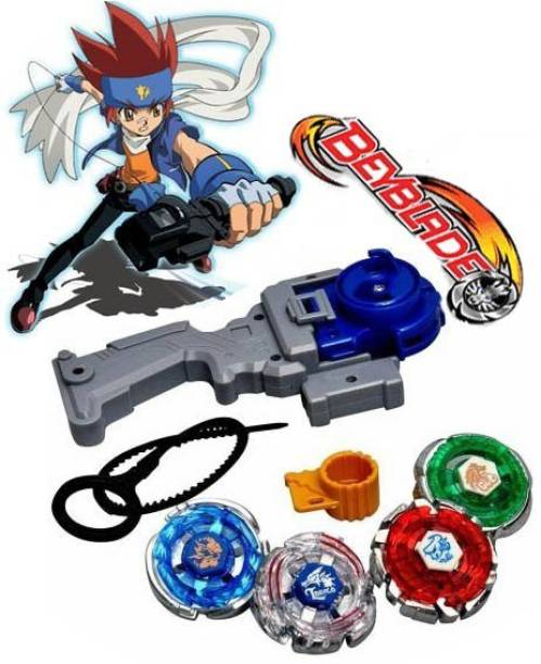 Bestie Toys Beyblade Metal Fusion 4 bey with handle and Launcher