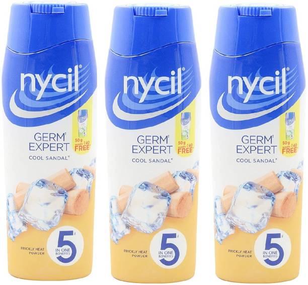 NYCIL Germ Expert Prickly Heat COOL SANDAL Powder - 3 x 150 g Packs