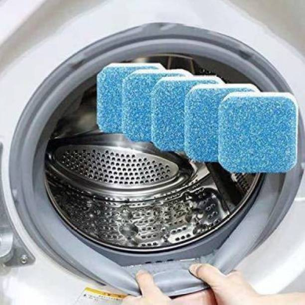 Royalment Anti-Bacterial Washing Machine Tank Deep Cleaner Effervescent Tablet for All Company Front & Top Load Machine,Descaling Powder Tablet Perfectly Cleaning Tub & Drum Stain Remover Washer Dishwashing Detergent Detergent Powder 50 ml