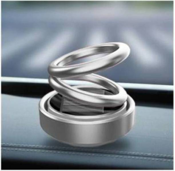 Pepino 100% Car Decoration Air Freshener Fragrance Automatic 360 Degree Shinye Black Solar Rotating Aromatherapy Car Solid Perfume Double Ring Suspension for Car Home Office Portable Car Air Purifier