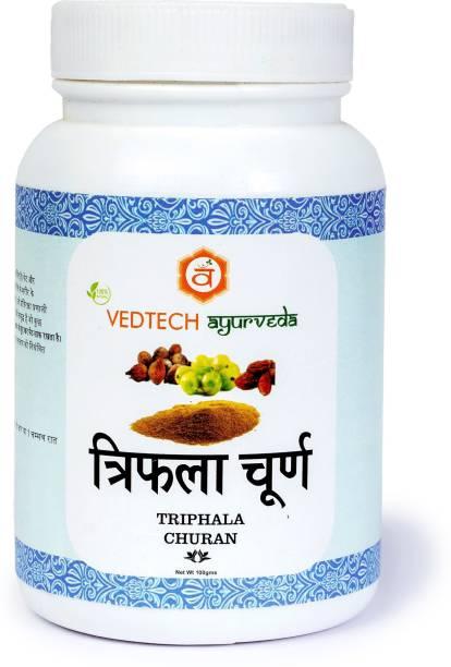 vedtech ayurveda Triphala Powder  For digestive health  Combination of amalaki, bibhitaki & haritaki  I AM SUBERHERB, 100g (100 g)