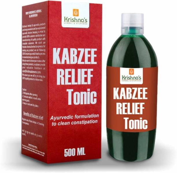 Krishna's Herbal & Ayurveda Kabzee Relief Tonic | Helps Manage Constipation| Strengthen Digestive System | Manages Hyperacidity and Acid Reflux
