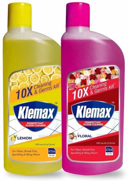 Klemax Disinfectant Floor Cleaner, Combo Lemon::Floral