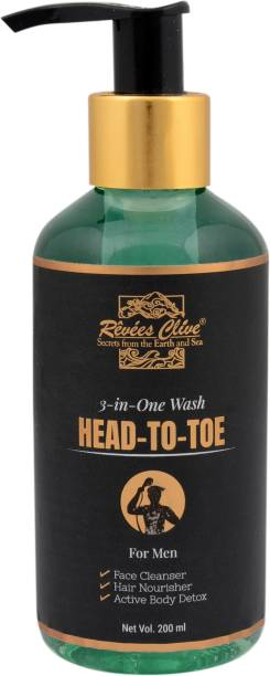 Revees Clive Head-To-Wash For Men, 3-in-one wash For Face, Hair and Body_200ml