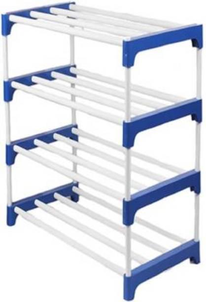 Caxon 4LBLUE Premium Metal Open Book Shelf
