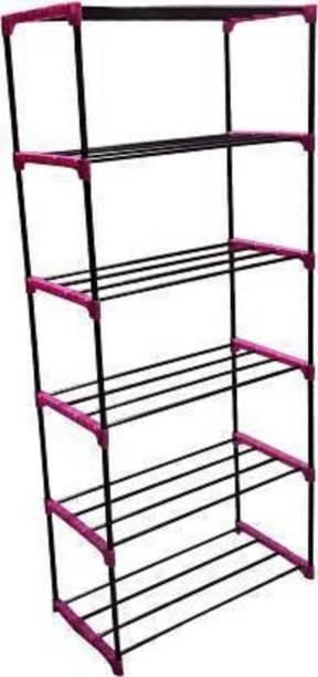 Krumate 6LPINK Premium Metal Open Book Shelf