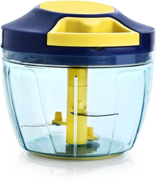 Peher Premium Handy Pull and Cut Chopper 750 ml Blue & Yellow Vegetable & Fruit Chopper