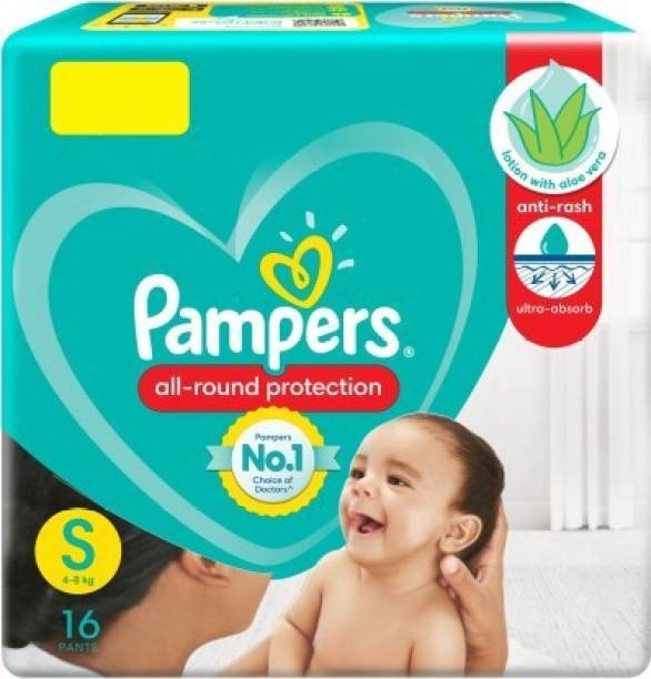 Pampers All Rounder Protection Baby Pants Lotion With Aloe Vera (16 Pants, Small Size) - S