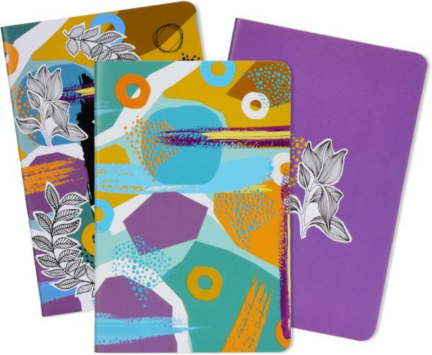 doodle Tropical Trail Set of 3 Diary B6 Notebook Ruled 80 Pages