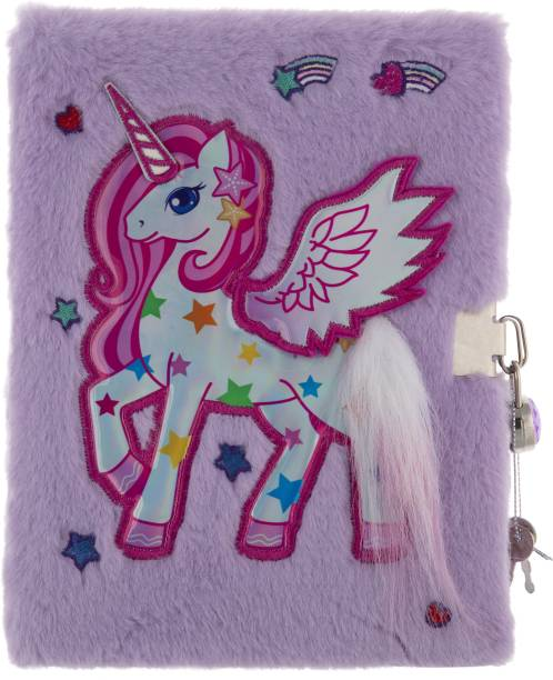 Mirada WHIMSICAL UNICORN NOTEBOOK WITH LOCK A5 Notebook Ruled 160 Pages