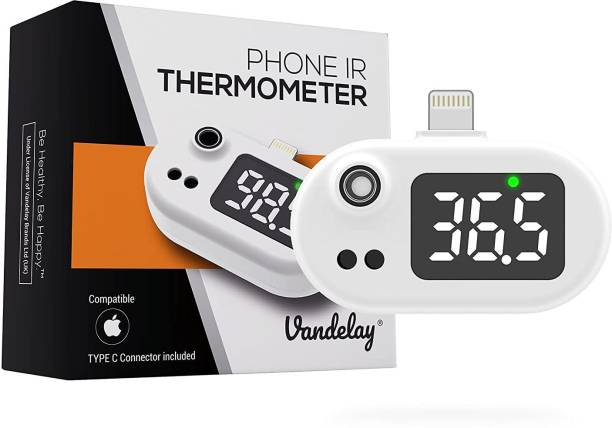 Vandelay VIT-803 Portable Infrared Thermometer (Powered by mobile) - Compatible with iPhone & Android Thermometer
