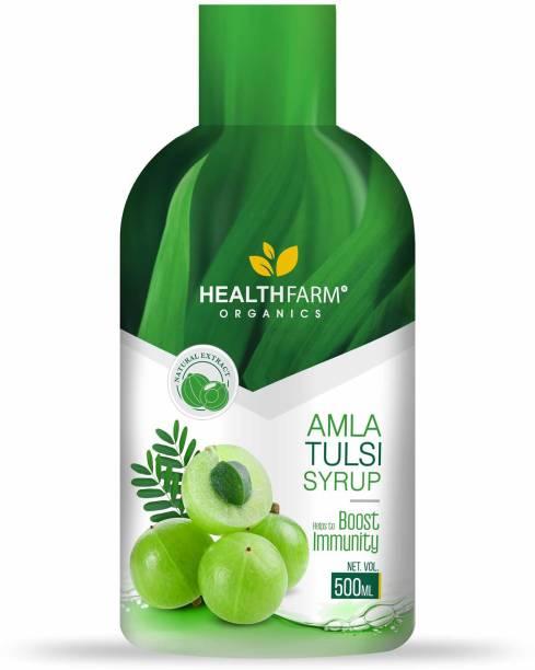 HEALTHFARM Amla tulsi juice for Building Immunity and Digestion Booster