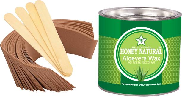 Honey Natural ( ALOEVERA HOT WAX)BEST HOT WAX FOR MEN AND WOMAN Wax WITH STRIPS Wax