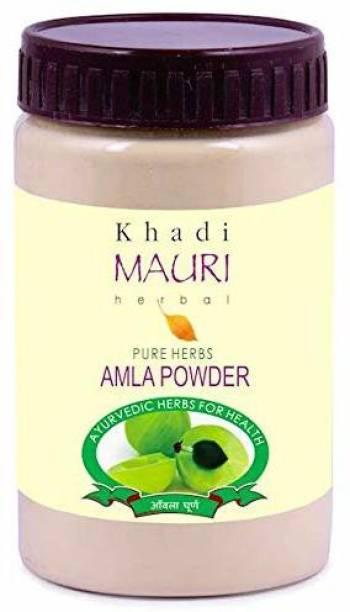 Khadi Mauri Herbal Amla Powder - Ayurvedic Treatment for Damage-Repair & Nourishment - Ideal for Hair & Skin - 200 g