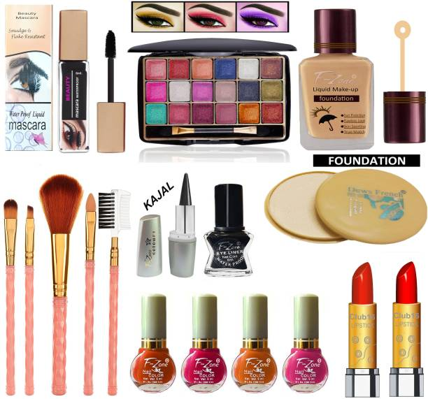 CLUB 16 Stylish & Party Wear Makeup Kit Of 17 Makeup Items TTL26