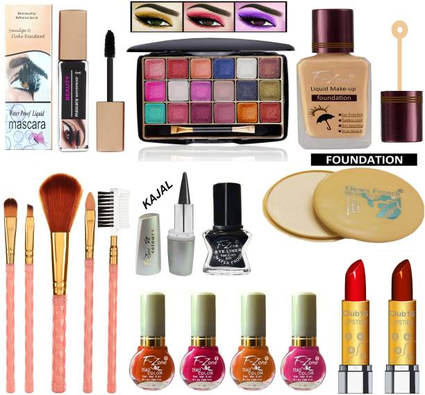 F-Zone Daily use & Party Wear Makeup Kit Of 17 Makeup Items NC06