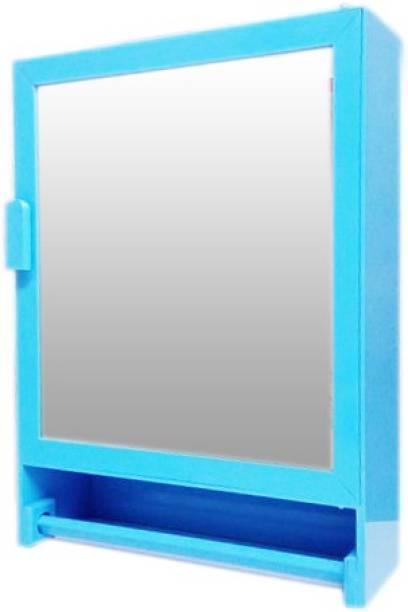 WINACO Besto Sky Blue Bathroom Mirror Cabinet Fully Recessed Medicine Cabinet