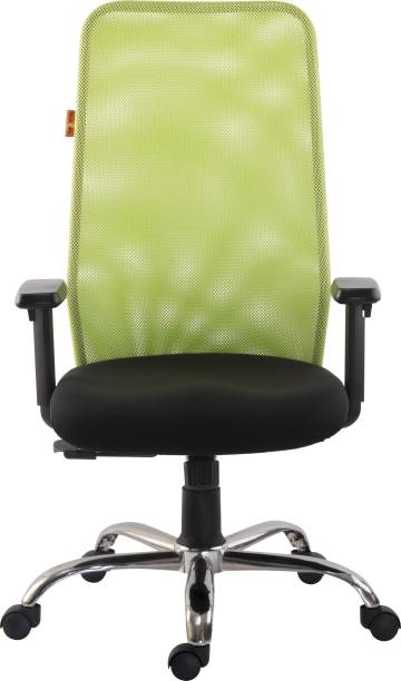 Bluebell ARMADA ERGONOMIC HIGH BACK REVOLOVING/EXECUTIVE CHAIR WITH ADJUSTABLE ARMS, AND BREATHEABLE MESH BACK(GREEN-BLACK) Mesh Office Executive Chair