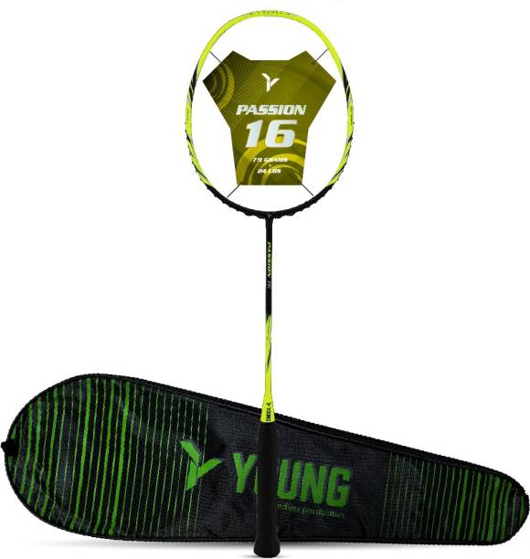 Young Passion 16 (79g, Ultra-Graphite) Yellow Unstrung Badminton Racquet