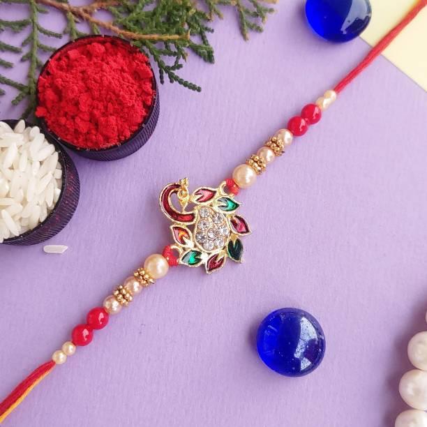 PDR Poonam Designer Rakhi Rakhi, Chawal Roli Pack  Set
