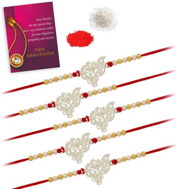 Jaipur Mart RKH307CMB Rakhi, Chawal Roli Pack, Greeting Card  Set