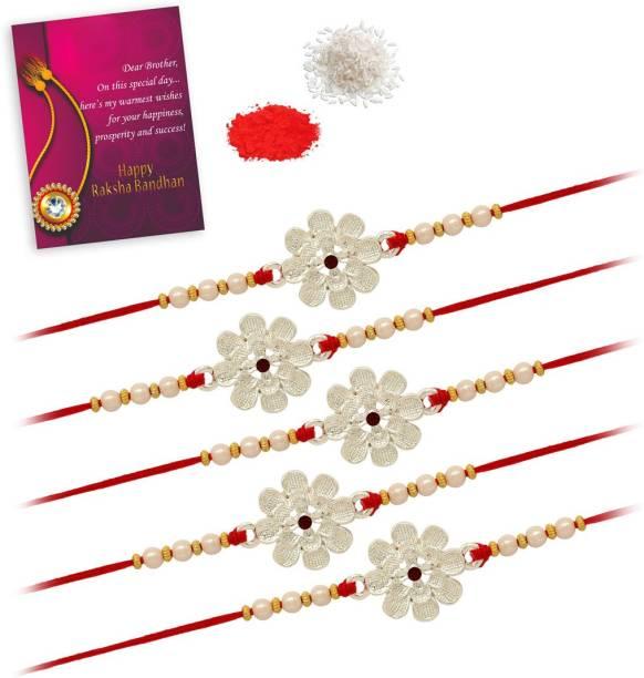 Jaipur Mart RKH309CMB Rakhi, Chawal Roli Pack, Greeting Card  Set