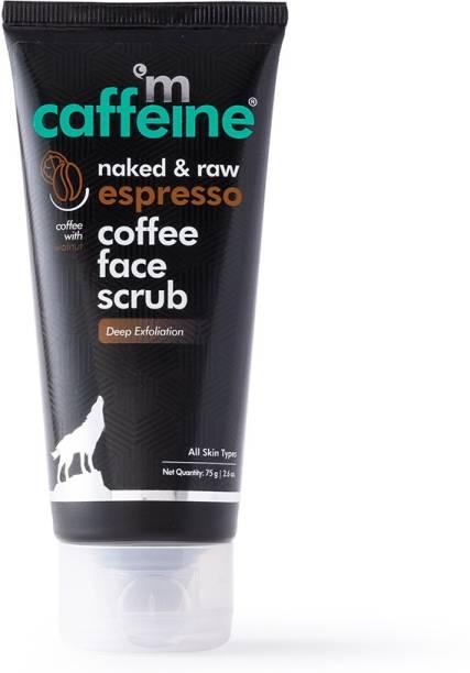 MCaffeine Espresso Coffee Deep Exfoliating Face Scrub | Removes Blackheads & Whiteheads, Polishes Skin | Walnut, Pro-Vitamin B5 | All Skin Types | Paraben & Cruelty Free Scrub