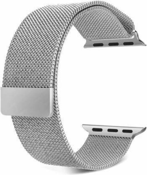 DAEMON Magnetic Lock Stainless Steel Milanese Strap Band (44mm,42mm Black) Smart Watch Strap