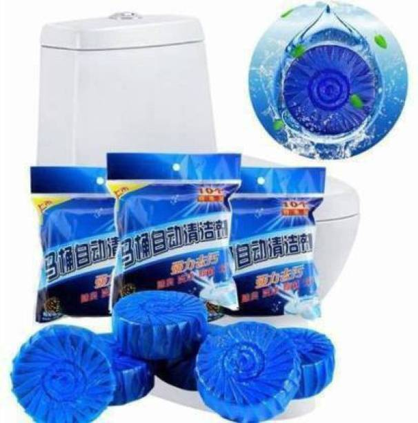 KAYRA Disinfect Toilet Cleaning Tablet, Toilet Bowl Cleaner Tablet, Toilet Deodorizer Bathroom Cleaner Tablet (Pack of 10 Pcs, Color: Blue) Ocean Block Toilet Cleaner (10 x 1 Wipes) Lavender Block Toilet Cleaner