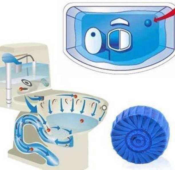 KAYRA Disinfect Toilet Cleaning, Toilet Bowl Cleaner Tablet, Toilet Deodorizer Bathroom Cleaner (Pack of 15 Pcs, Color: Blue) Ocean Block Toilet Cleaner (15x 1 Wipes) Lavender Wipe Toilet Cleaner