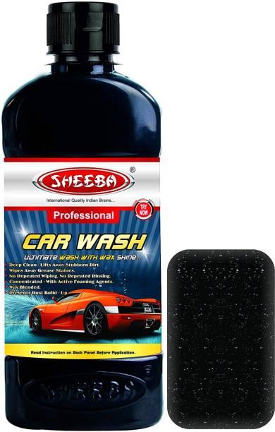 sheeba Concentrated Car Wash Shampoo Liquid Soap Bucket Wash Lifts away Dust & Dirt Car Washing Liquid