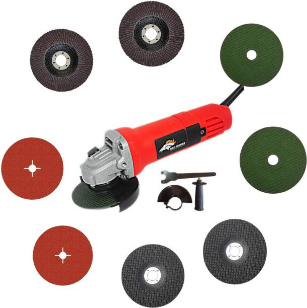 RanPra ANGLE GRINDER REDHORSE WITH 8 WHEEL SET HEAVY DUTY 850W Angle Grinder