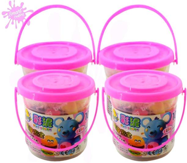 SmartCrafting Cute Clay Bucket Ultra Light Weight Modelling Toys & Bouncing Clay for Kids. Art Clay