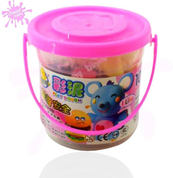 SmartCrafting Premium Clay Bucket of 12 Clay Stick Art &Craft With Good Quality Moulding Toys. Art Clay