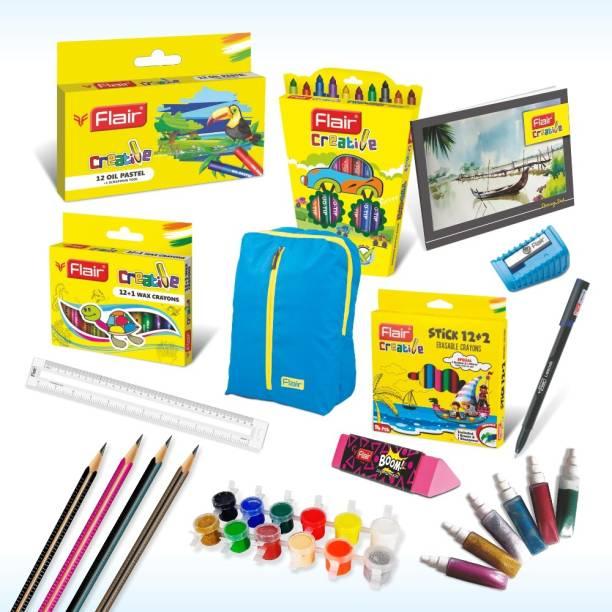 Flair Creative Premium Kit with Blue Bag