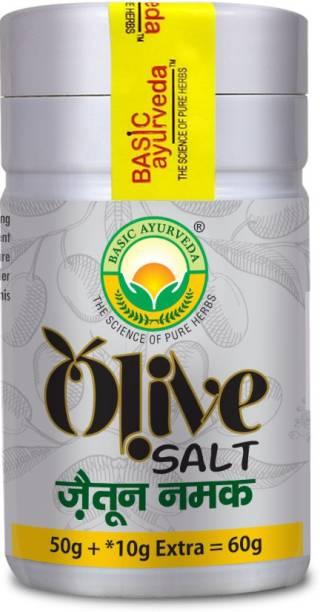 Basic Ayurveda Olive Salt (Zaitoon Namak) Jaitun Ka Namak zaitoon | Helps in Digestion | Treats Stomach Related Problems | Olive Cyder Salt