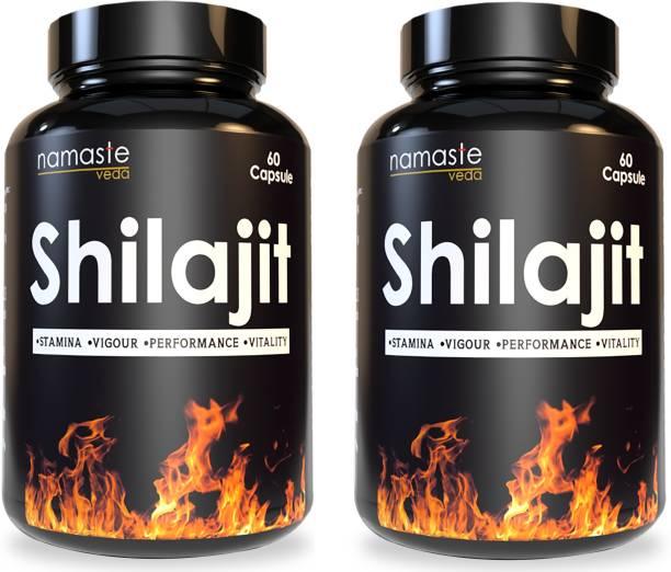 Namaste Veda 100% Ayurvedic shilajit/Shilajeet capsule Extract Youth generalized weakness| Stamina | Strength | Power for Men & Women