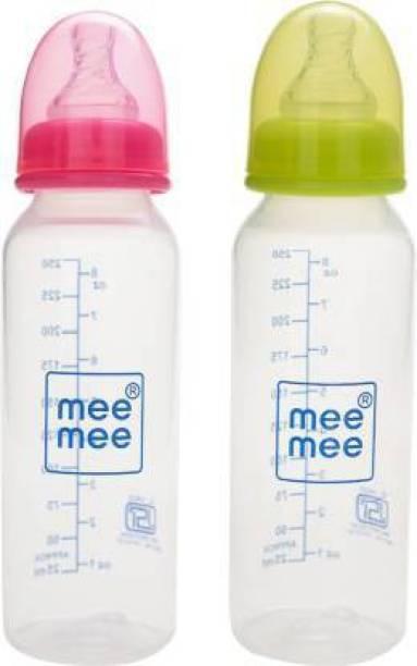 MeeMee PREMIUM BABY FEEDING BOTTLE PINK/GREEN(250mlx2-500ml) - 250 ml